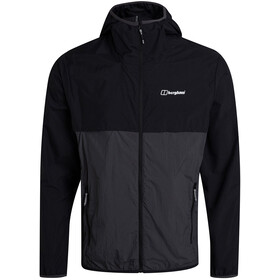 Berghaus Corbeck Wind Jacket Men, jet black/grey pinstripe